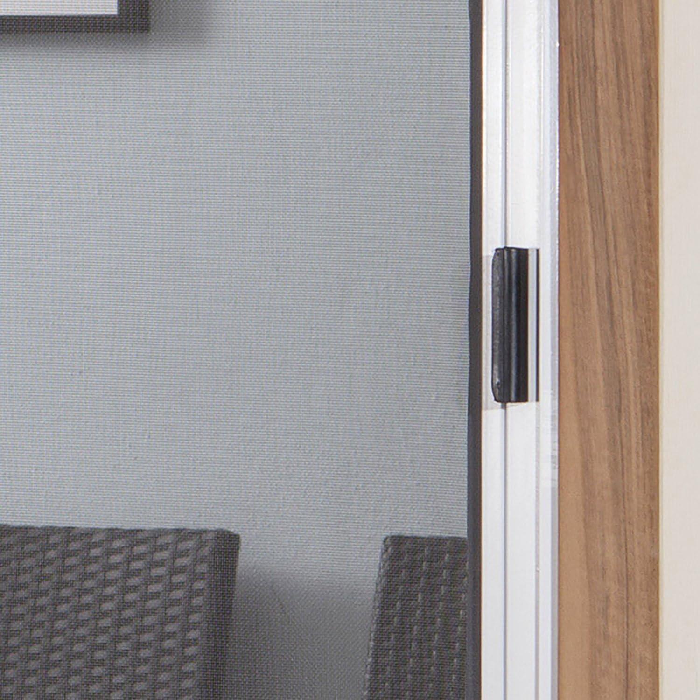 color marr/ón y blanco tama/ño 160 x 250 cm horizontal Mosquitera enrollable para puerta