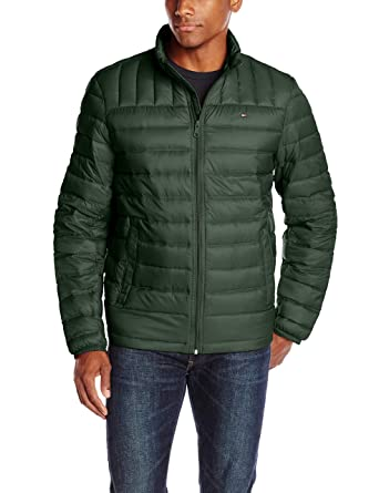 3aec340427d Tommy Hilfiger Men's Packable Down Jacket, Green, Medium: Amazon.in ...