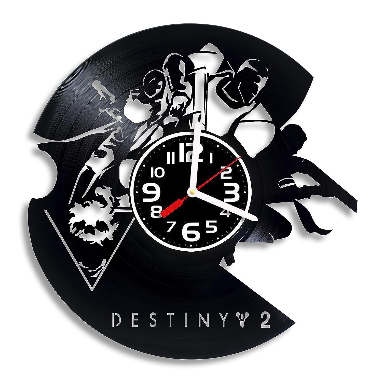 Destiny 2 Arts gift for any occasion Birthday Destiny 2 vinyl wall clock Holiday Christmas Housewarming Present