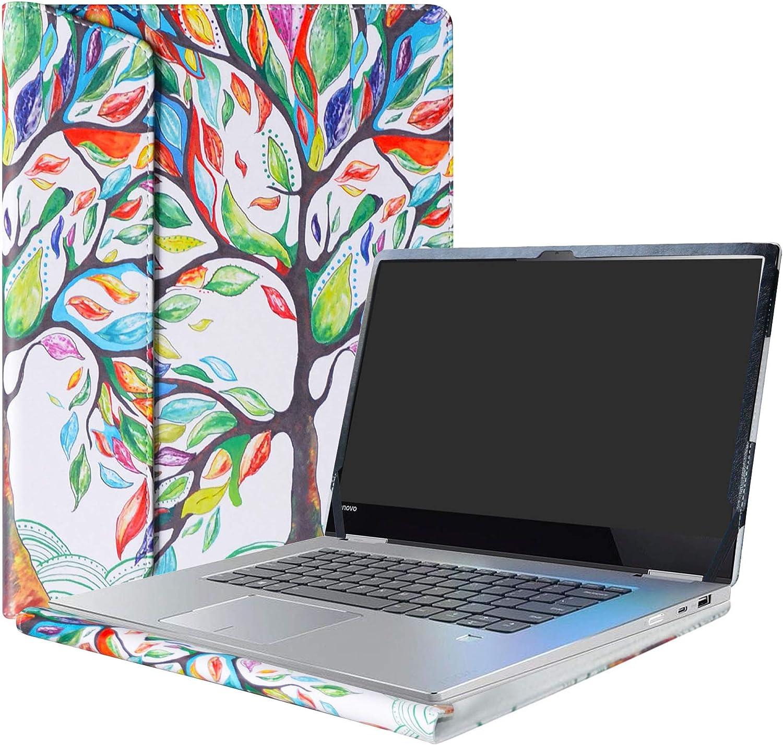 "Alapmk Protective Case For 15.6"" Lenovo Yoga 730 15 730-15IKB 730-15IWL/CHROMEBOOK C340 C340-15/Yoga Chromebook C630 Laptop,Love Tree"