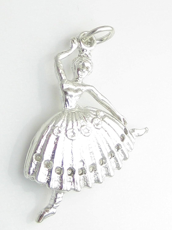 Ballerina in argento sterling 925, con ciondolo a forma di Ballerina, ciondoli  EC1757 x 1: Amazon.it: Gioielli