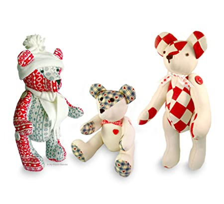3 X Teddy Bear Sewing PATTERNS Independent Design. 9\