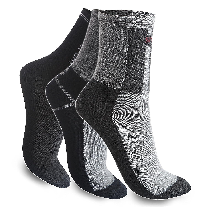 12-24-48 Socken Sportsocken Freizeit Tennis Arbeitssocken Herren Schwarz