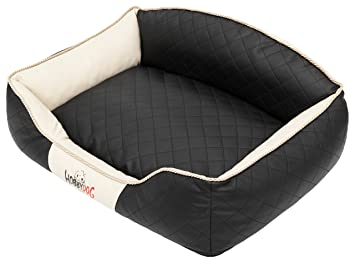 Hobbydog Elite Cama para Perro, Grande, Negro/Beige Lados: Amazon.es: Productos para mascotas