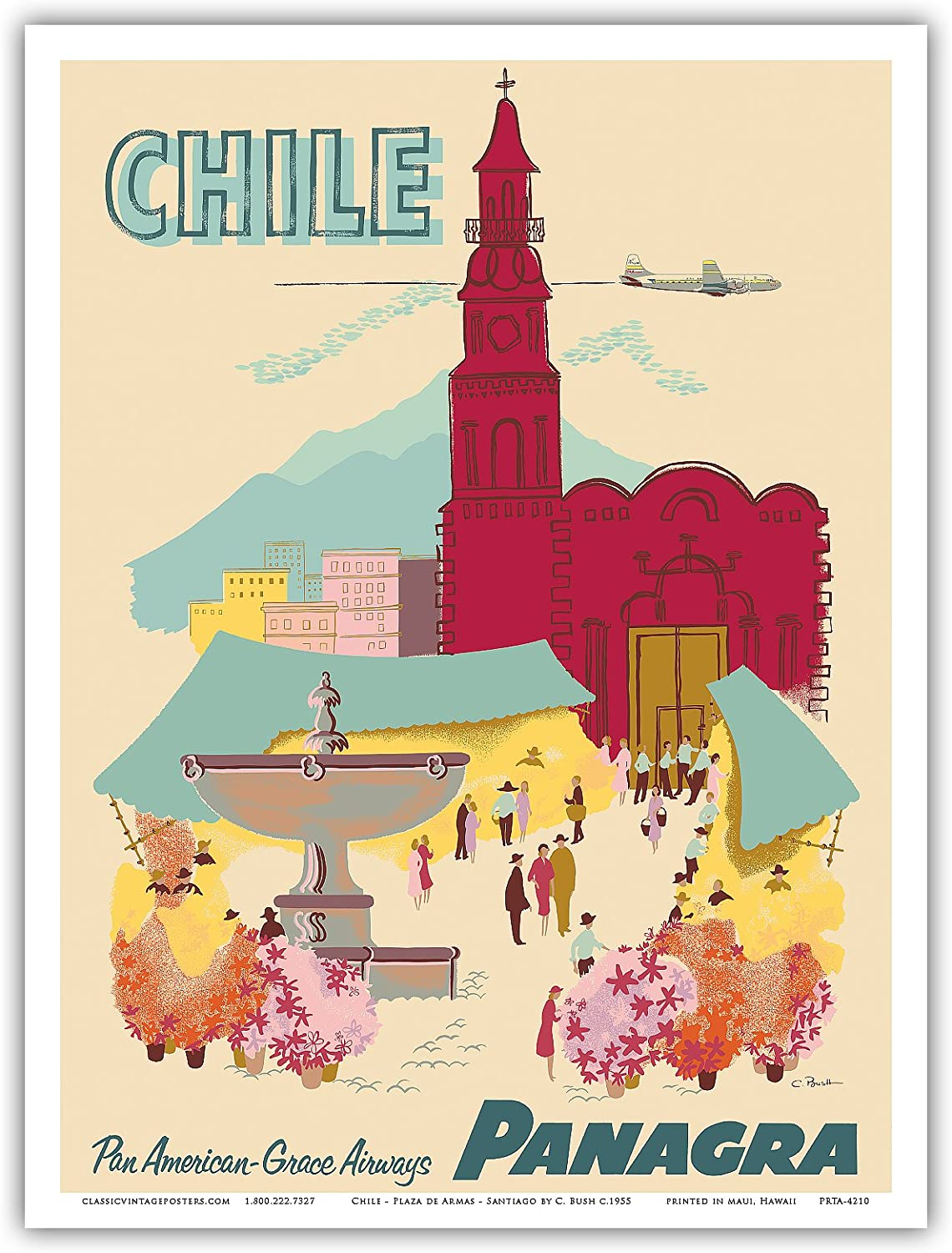 """B2G1F United  Airlines California 11/"""" x 17/"""" Collector/'s Travel Poster Print"""