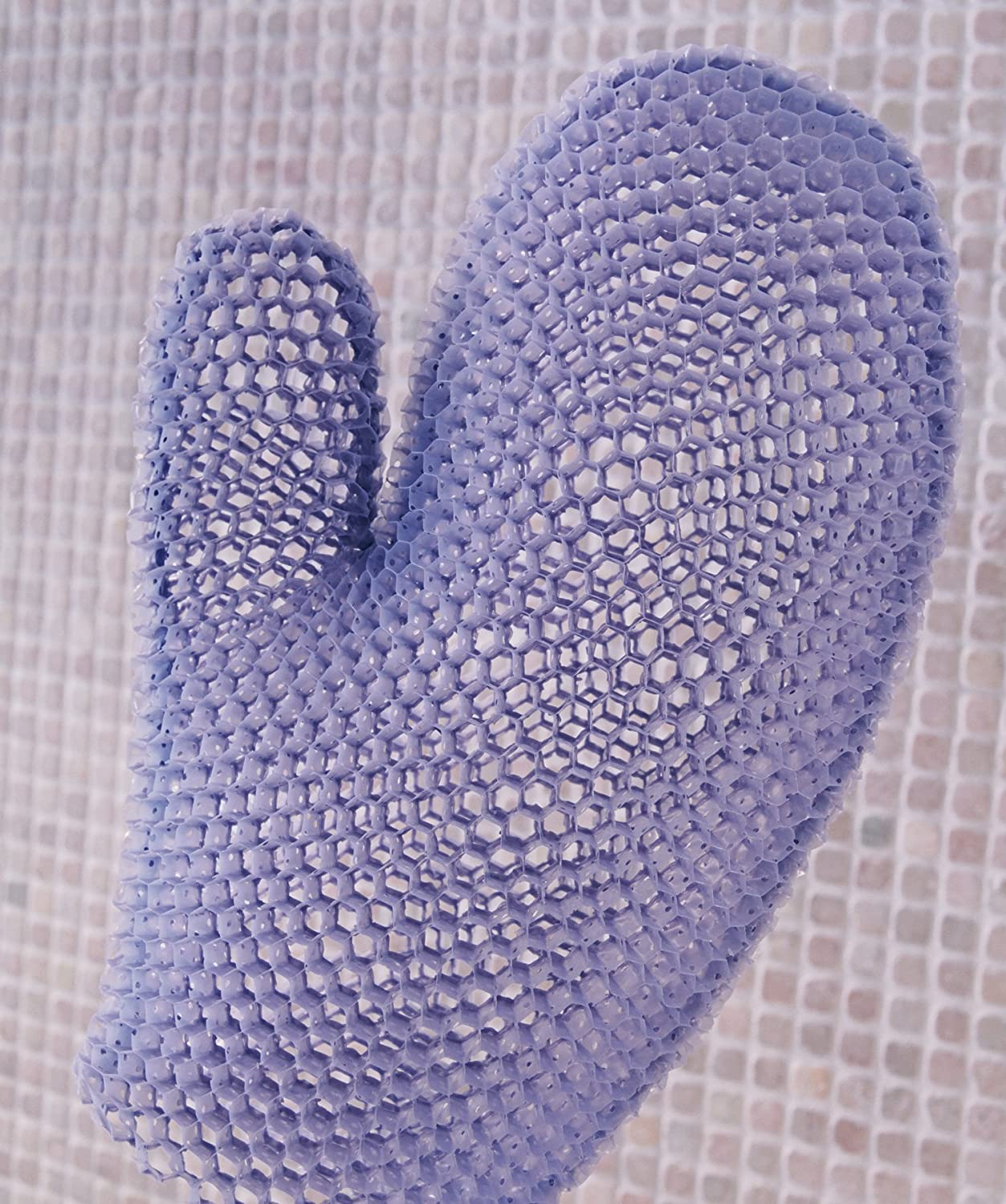 Supracor Spa Bath Mitt Body Exfoliator Face Antibacterial Scrub Sponge (Purple)