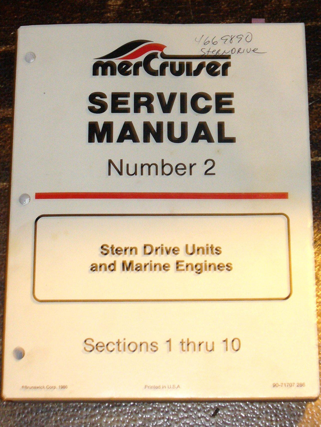 mercruiser service manual number 2 stern drive units and marine rh amazon com mercruiser service manual 10 pdf mercruiser service manual 11 pdf