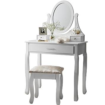 Amalfi | Dressing Table, Mirror U0026 Stool Set| Premium Quality | Laura James |