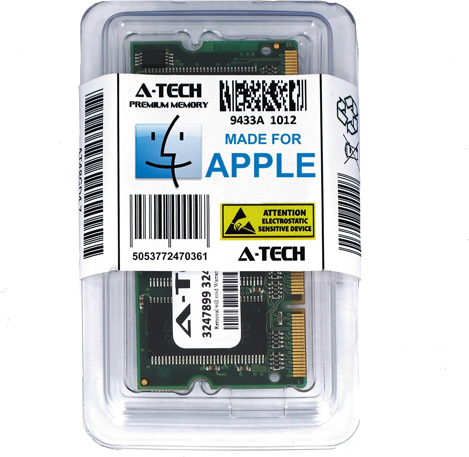 A-Tech for Apple 1GB Module PC2700 333MHz PowerBook G4 PowerBook G4 iBook Early/Mid 2005 M9846LL/A A1133 M9848LL/A A1134 M9183LL/A A1010 M9690LL/A A1104 M9689LL/A A1107 Memory RAM