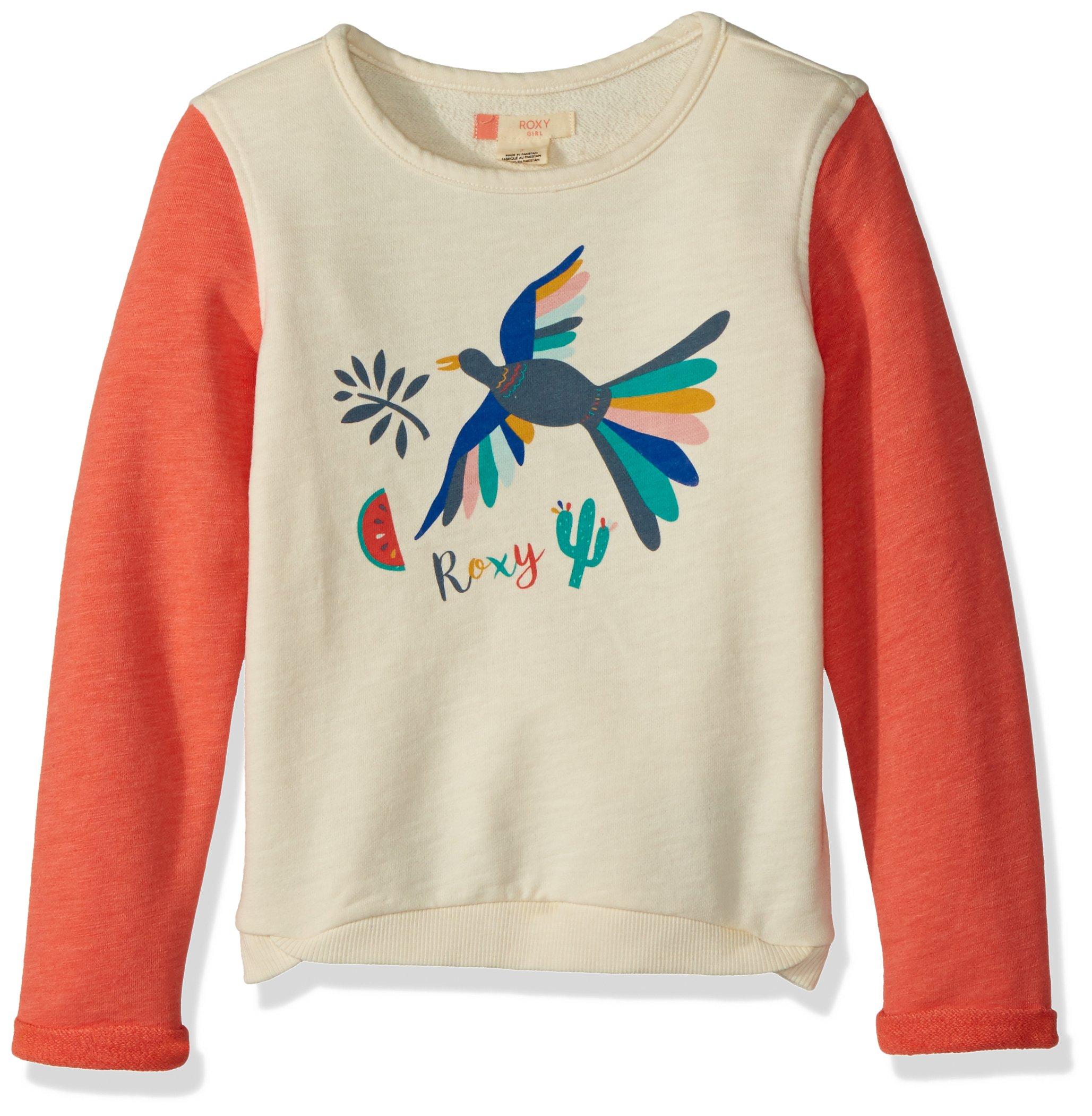 Roxy Toddler Girls' Fashion Crew Sweatshirt, Porcelain Rose, 3
