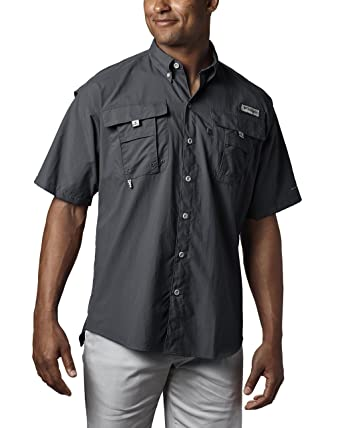 199f1a8e Columbia Men's PFG BahamaTM II Short Sleeve Shirt, Black, X-Small