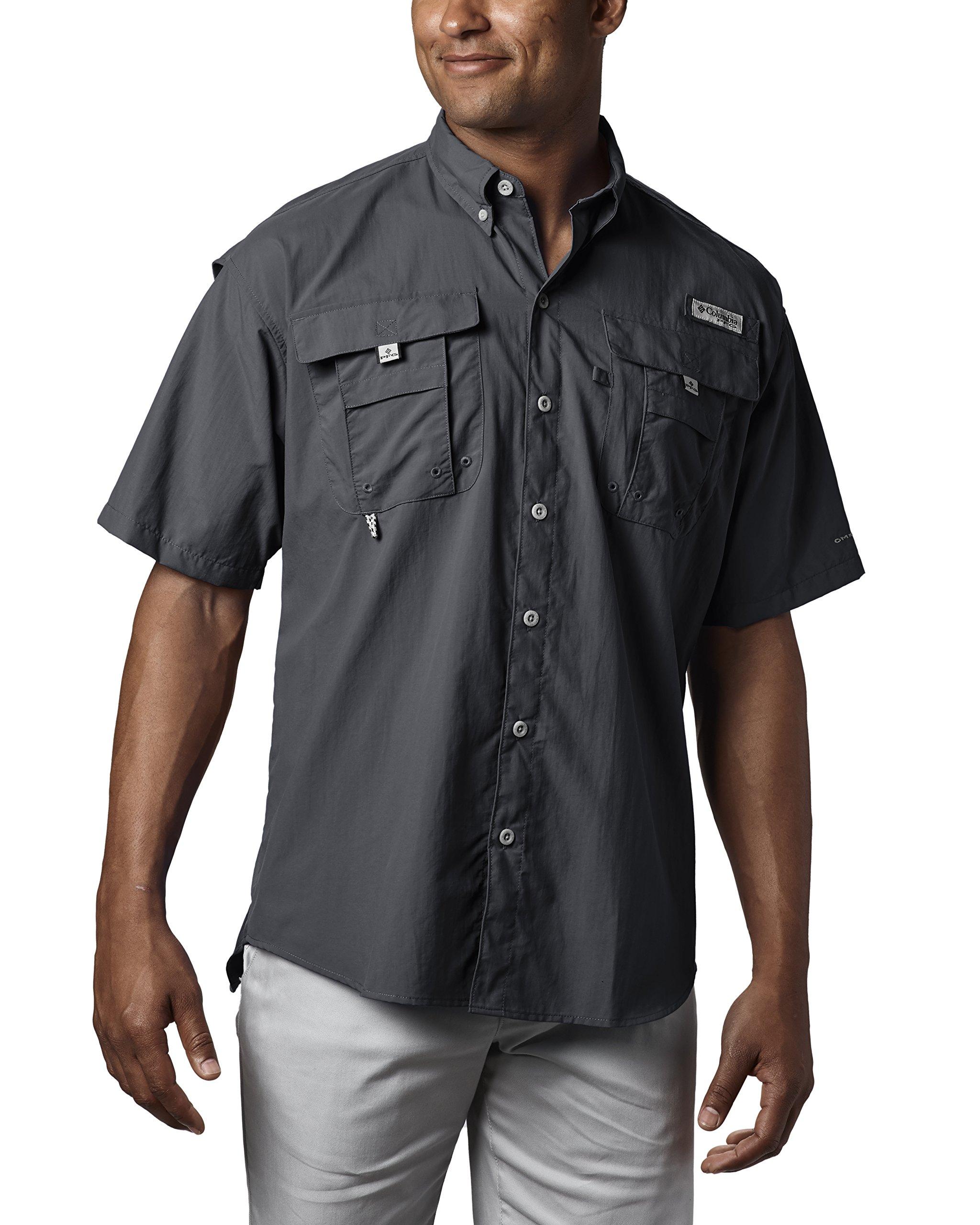 Columbia Men's Bahama II Short Sleeve Shirt, 3X/Tall, Black