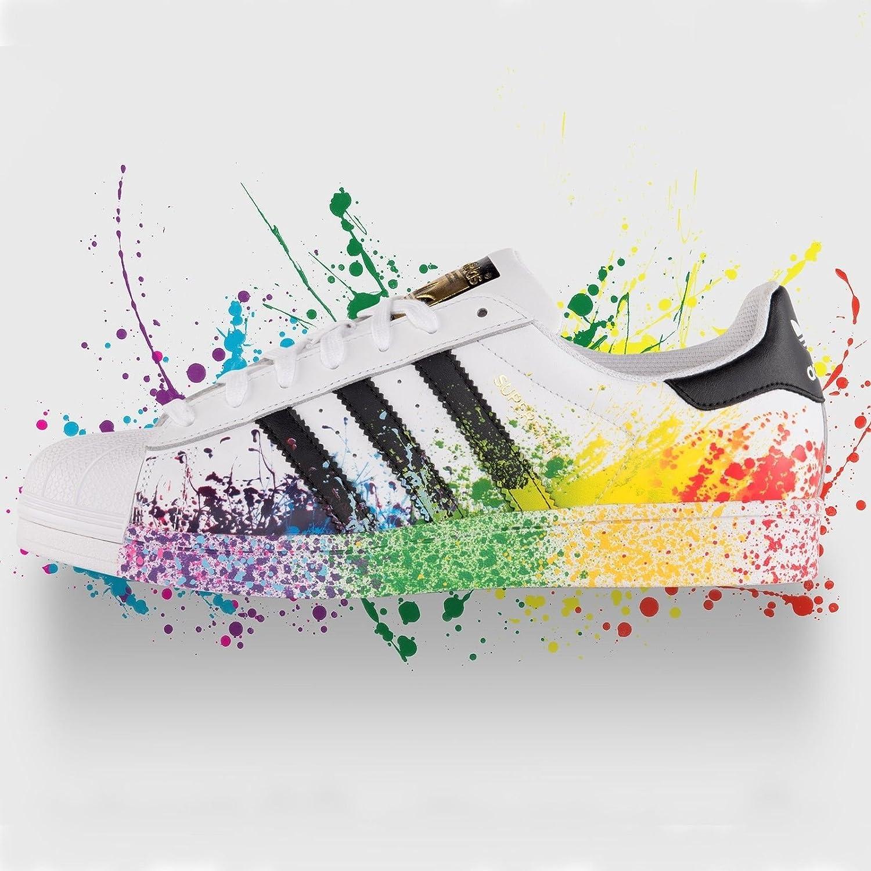 Adidas Originals Superstar LGBT Pride Pack White Black Rainbow