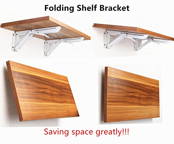 Douper Montado en la pared resistente soporte de estante plegable largo brazo Max carga 150Lb vendido en pares (tarjeta no incluida): Amazon.es: Bricolaje y ...