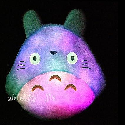 Amazon.com: Kawaii colorido LED luminoso Animal de peluche ...