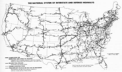 Amazon.com: Home Comforts Laminated Map - File Interstate Highway ...