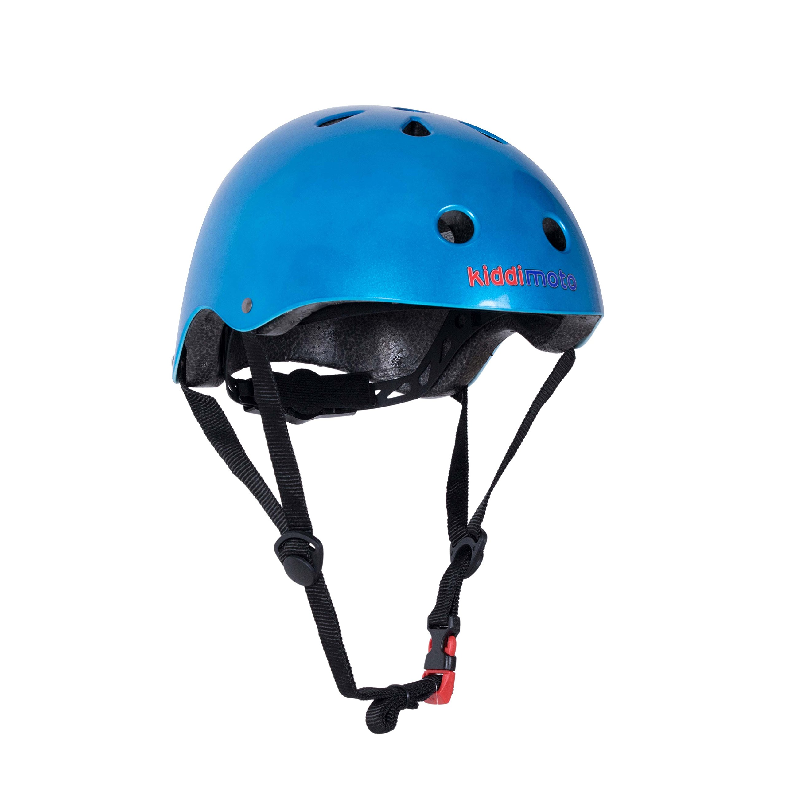 Kiddimoto Helmet, Metallic Blue, Small (48-53 cm)