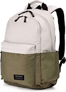 SWISSGEAR 2789 Laptop Backpack for Men and Women, Ideal for Commuting, Work, Travel, College, and School, Fits 13 Inch Laptop Notebook - Olive/Ivory
