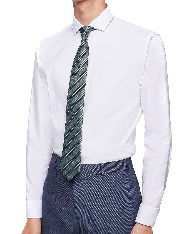 Zara Camisa Casual - para Hombre Weiß S: Amazon.es: Ropa y accesorios