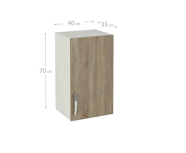 MEKA-BLOCK Módulo Alto de Cocina para Colgar de 40 cm con una ...