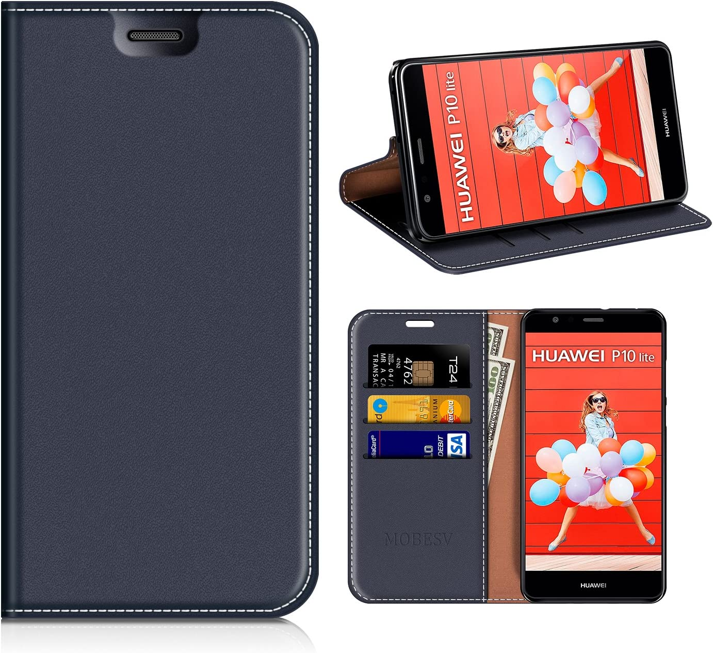 MOBESV Funda Cartera Huawei P10 Lite, Funda Cuero Movil Huawei P10 ...