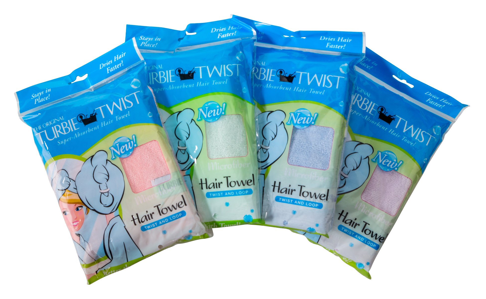 The Original Turbie Twist, Super Absorbent Hair Towel - Colors May Vary (1 Pack)