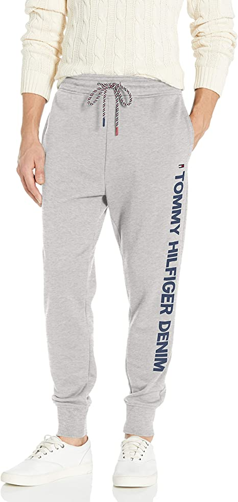Tommy Hilfiger Men/'s Logo Joggers Grey