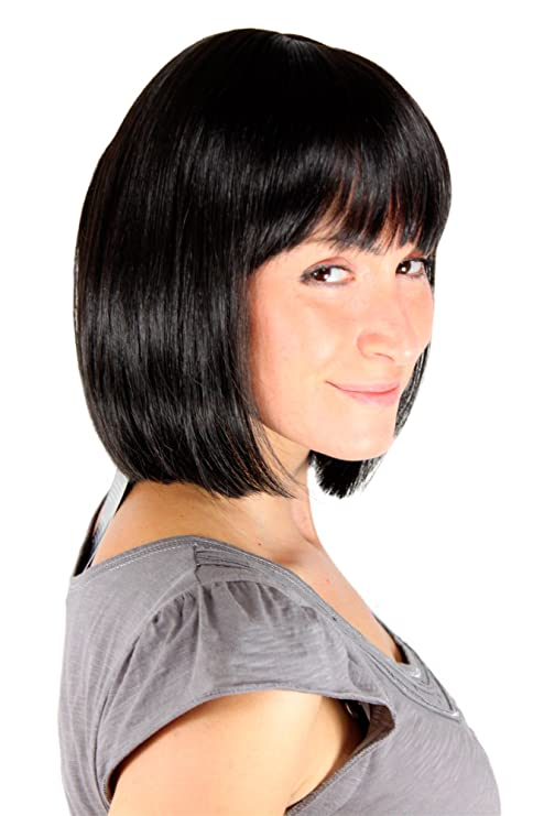 WIG ME UP ® - Peluca, negro, estilo Mia de Pulp Fiction (7803