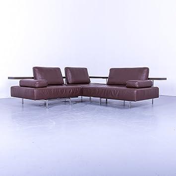 Amazonde Rolf Benz Dono Designer Eck Sofa Braun Leder Couch