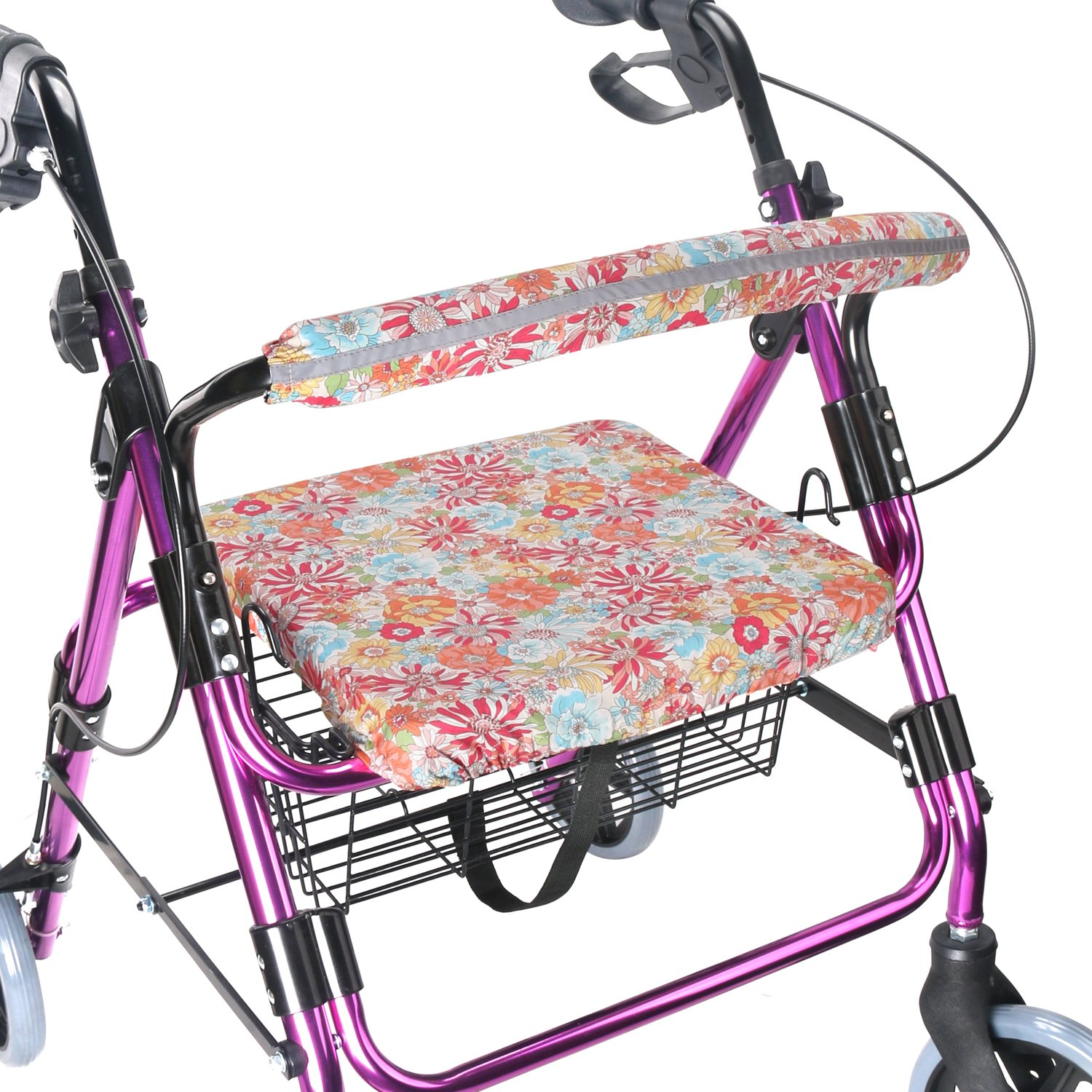 Walker Seat Cover Rollator Walker Seat and Backrest Covers Vibrant Walker Cover One Size Multiple Colors (CB1885) by TOMMHANES AMISGUOER
