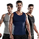 DRSKIN 1~3 Pack Undershirts Running Shirt Tank Tops Men's Cool Dry Compression Baselayer Sleeveless (NM-TA-(B,N,G), S)
