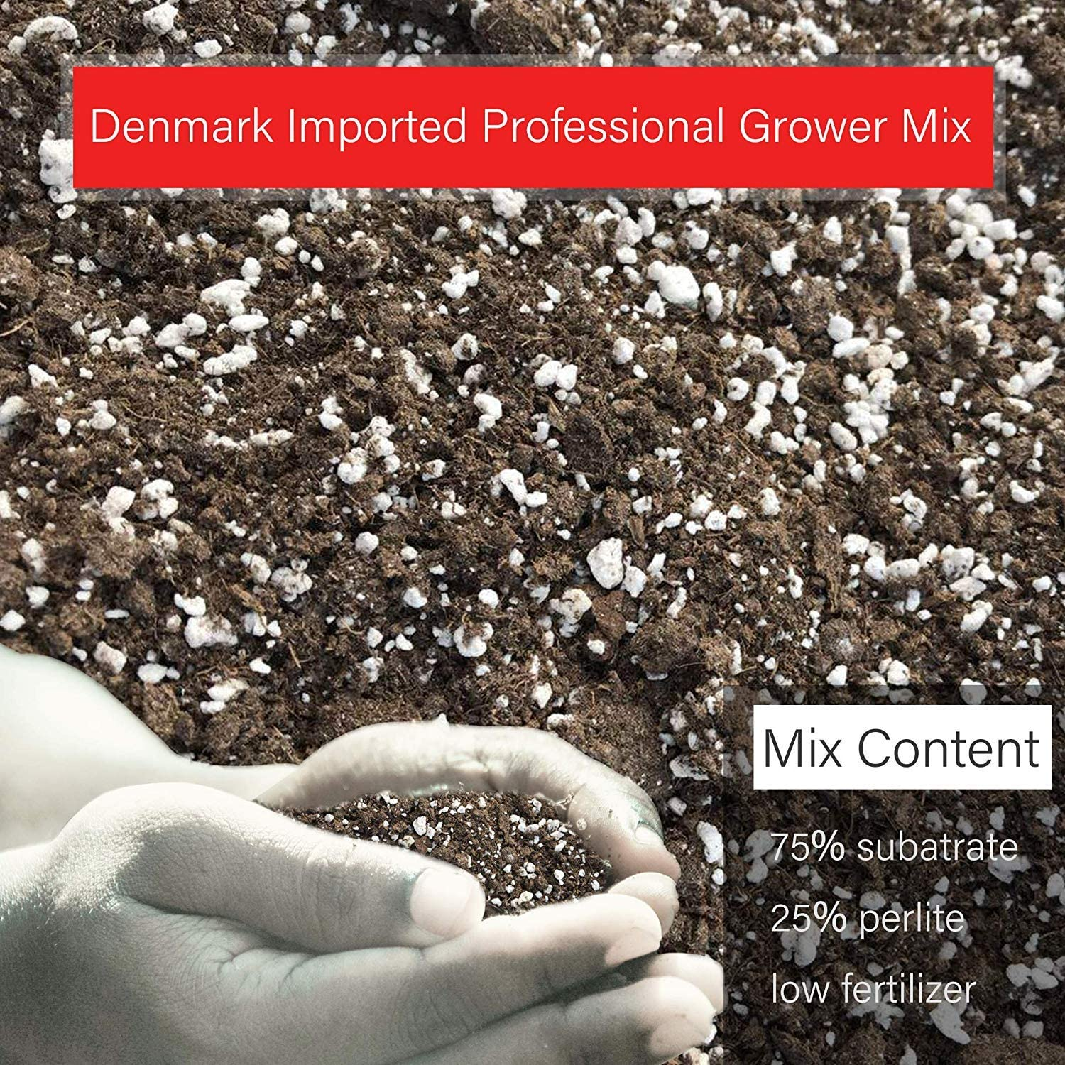 Professional Grower Mix Soil Fast Draining Pre-Mixed Coarse Blend (2 Quarts) : Garden & Outdoor