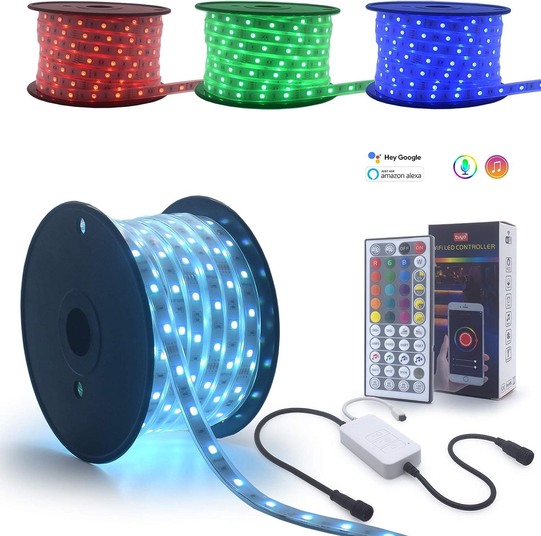 90 Feet Waterproof 24 Dallas Mall Volts LED Overseas parallel import regular item App Smart Lights RGB WiFi Strip