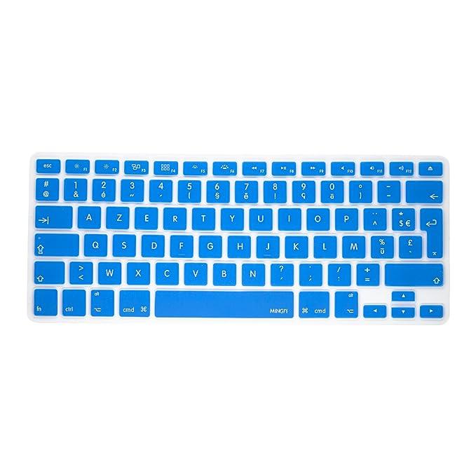150 opinioni per MiNGFi- Tastiera francese, cover di protezione. Copertura Azerty per MacBook Pro