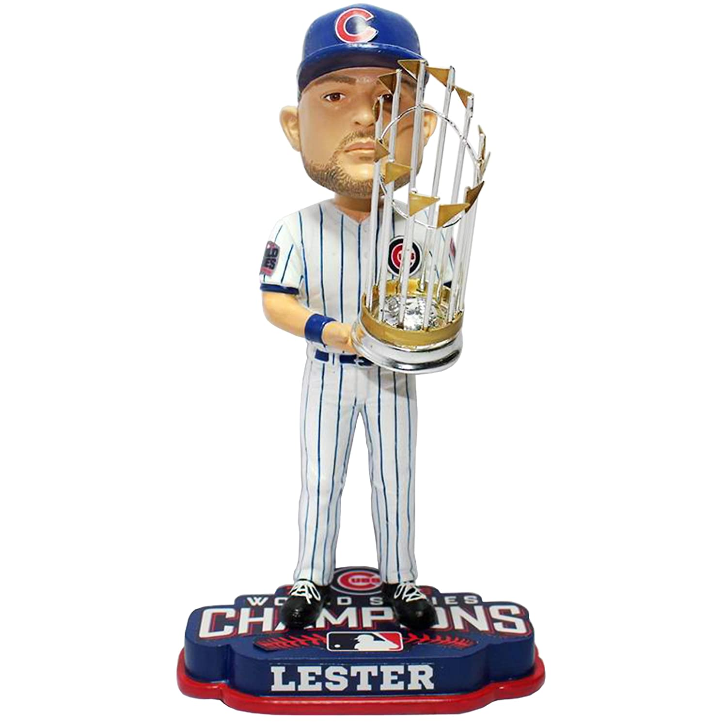 FOCO Chicago Cubs Lester J. #34 2016 World Series Champions 8' Bobble, 8 inches