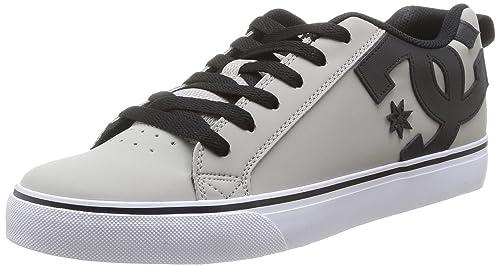 DC Court Vulc M Shoe Xssk - zapatilla deportiva de piel hombre, Gris / Negro (Grey / Grey / Black), 42.5: Amazon.es: Zapatos y complementos