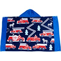 Wowelife Fire Truck Hooded Bath Towel Upgraded for Bath, Pool and Beach, 100% Cotton 30 x 50 inch Extended Length for…