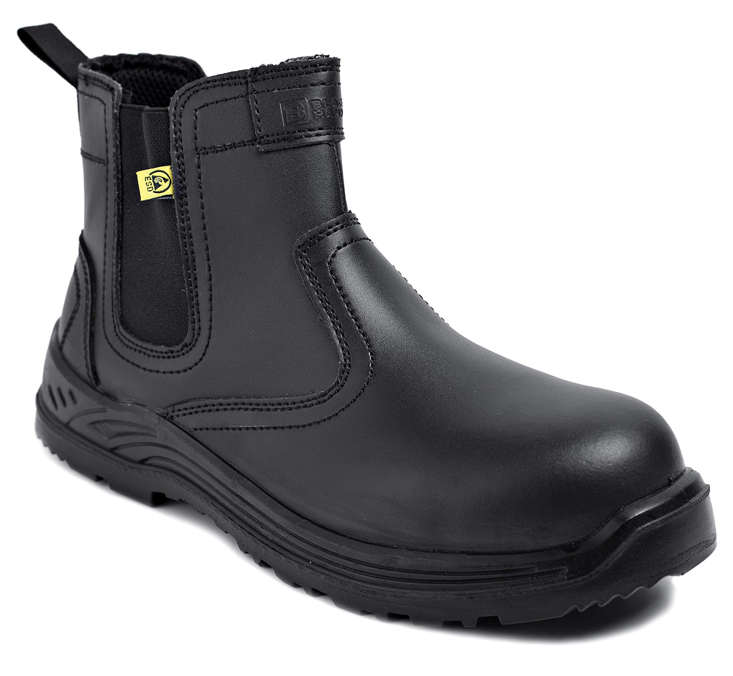 Black Hammer Mens Safety Boots Chelsea