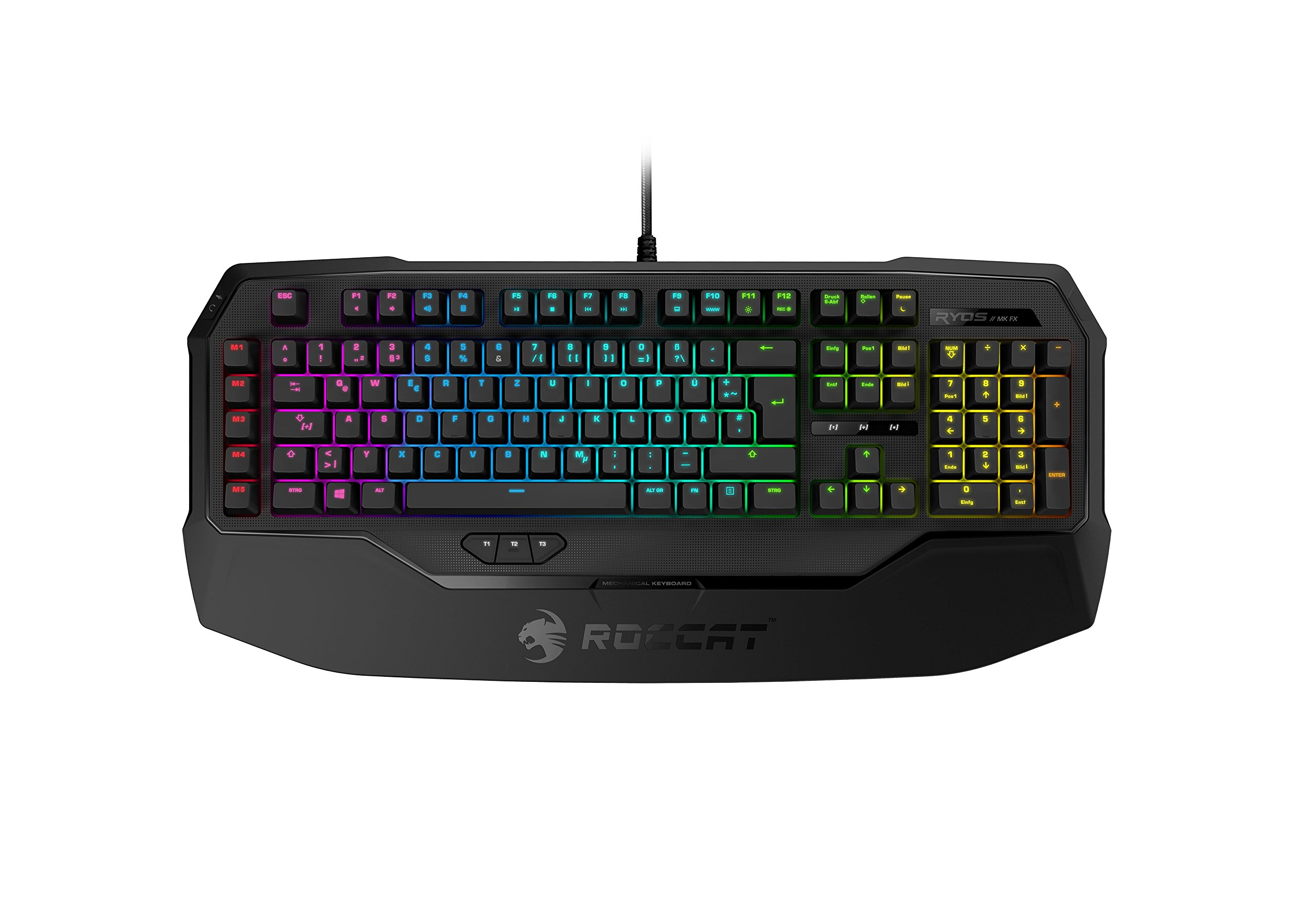 Teclado Mecanico : ROCCAT Ryos MK FX Brown Cherry Switch