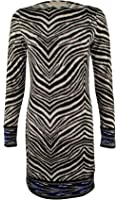 MICHAEL Michael Kors Women's Plus Size Long Sleeve Patterned Shift Dress