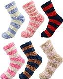CityComfort Calcetines Calentitos Mujer Y Niños | Pack De Calcetines Mujer | Calcetines Con Rayas De Colores | Calcetín…