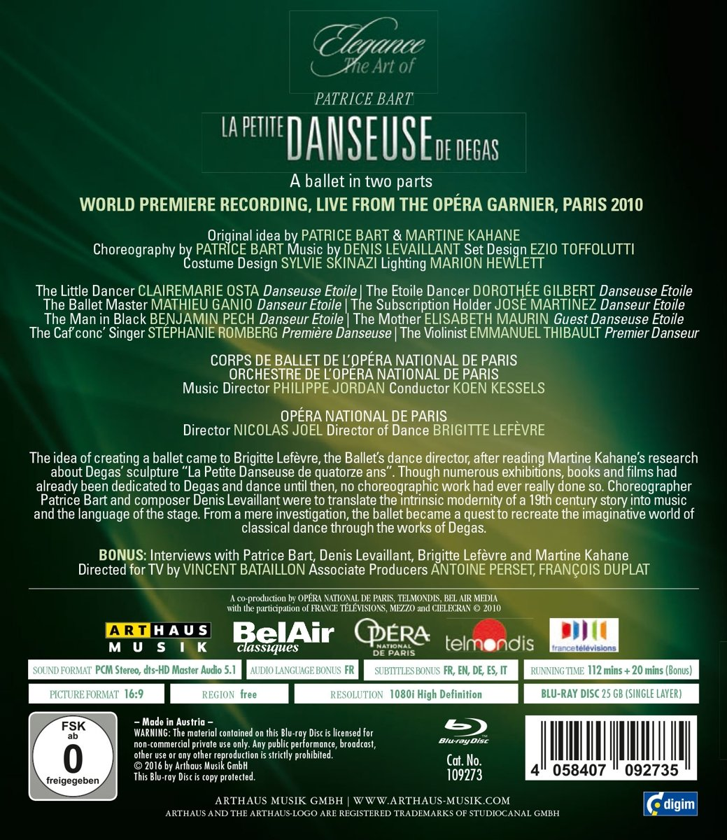 Amazon.com: Levaillant: La Petite Danseuse de Degas [Blu-ray ...