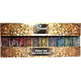La Femme Mini Nail Polish Gift Set - Glitter Set With 10 Nail Polishes - Perfect Gift For Her