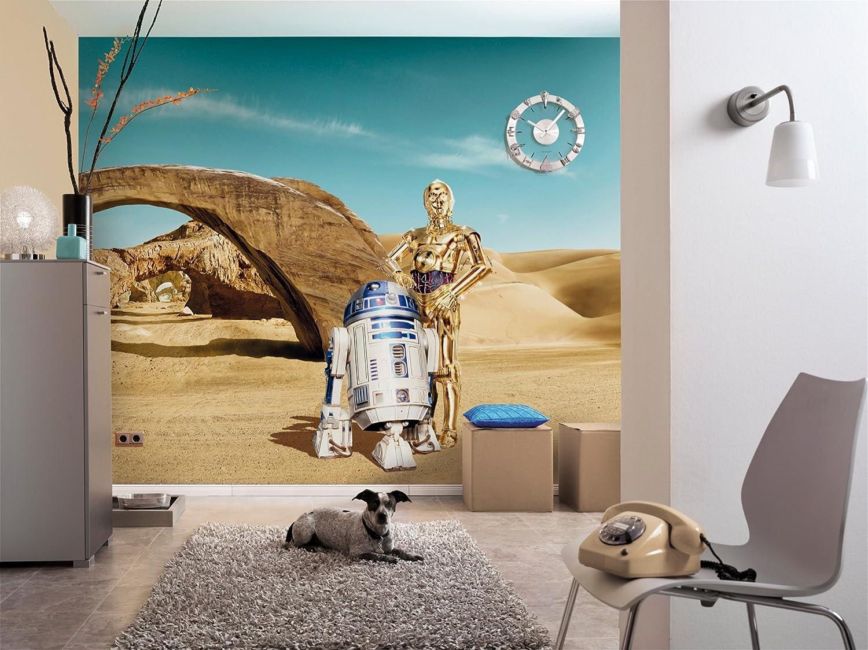 Komar 8 484 Star Wars Lost Droids R2 D2 C 3po Wallpaper Mural Vinyl Multi Colour 8 Piece Amazon Co Uk Kitchen Home