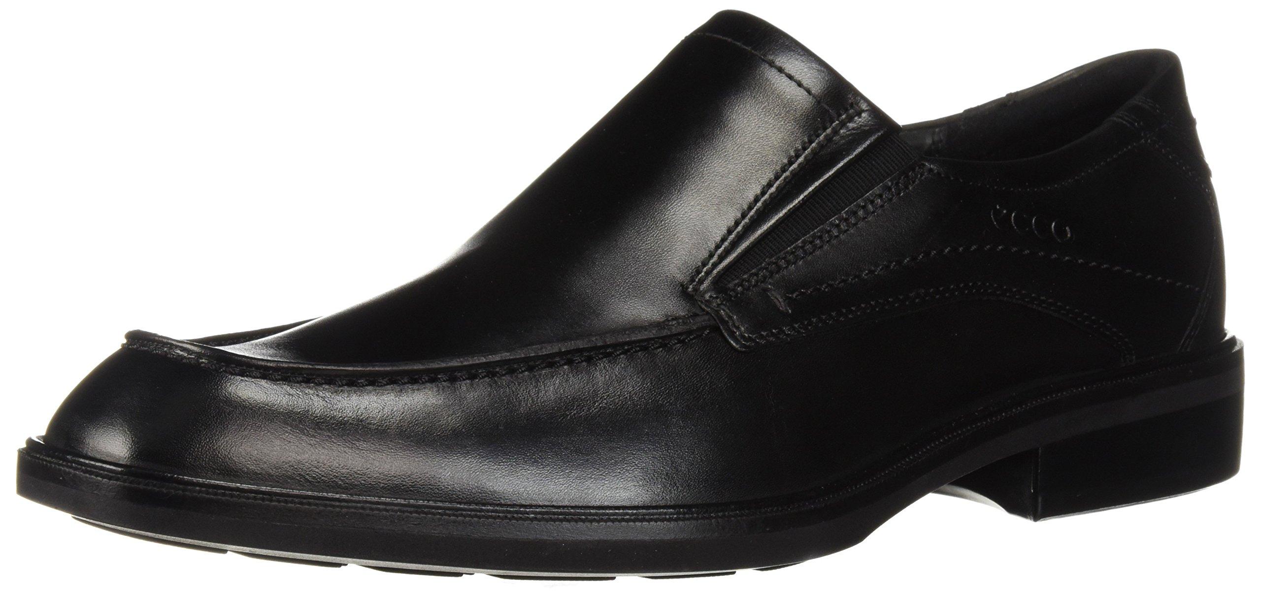 ECCO Men's Windsor Slip-On Loafer, Black/Black, 44 M EU (10-10.5 US)