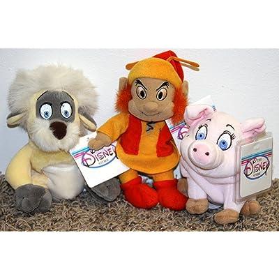 Rare Disney Black Cauldron Complete Set of 3 Plush Bean Bag Dolls Including Gurgi, Fairfolk, and Hen Wen Mint with Tags: Toys & Games