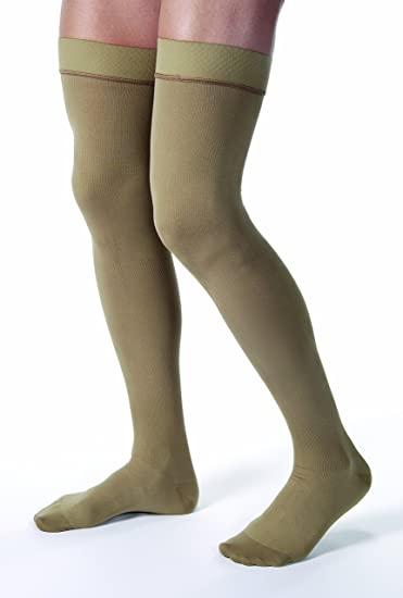 617ccb27b3 Image Unavailable. Image not available for. Color: JOBST forMen Thigh High  30-40 mmHg Ribbed Dress Compression Stocking, Closed Toe,