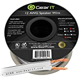12AWG Speaker Wire, GearIT Pro Series 12 AWG Gauge Speaker Wire Cable (100 Feet / 30.48 Meters) Great Use for Home Theater Speakers and Car Speakers White