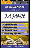 Reading order checklist: J.A. Jance - Series read order: J.P. Beaumont Series, Joanna Brady Series, Ali Reynolds Series (English Edition)