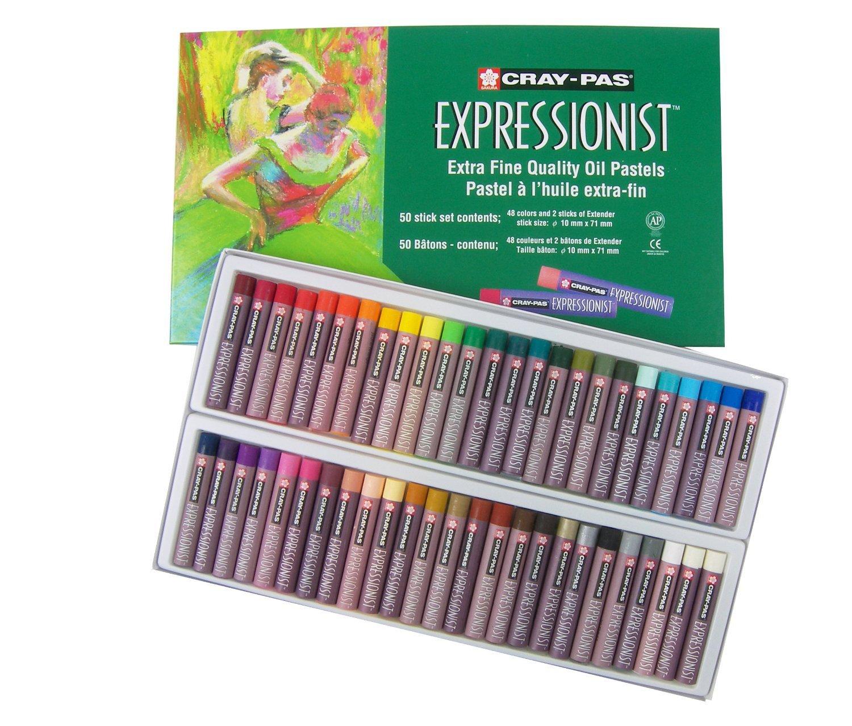 Sakura XLP50 50-Piece Cray-Pas Expressionist Assorted Color Oil Pastel Set by SAKURA